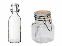 glass jars with bail closure